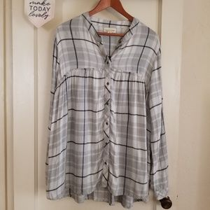 Cloth & Stone Lightweight Flannel Button Down